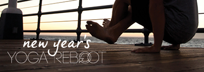 YogaWorks Journey Series Pose on Pier